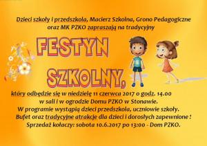 Zaproszenie festyn 2017 obrazek
