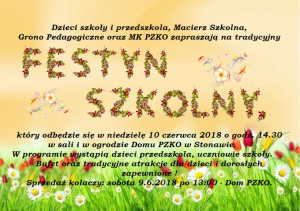 Zaproszenie festyn 2018 obrazek